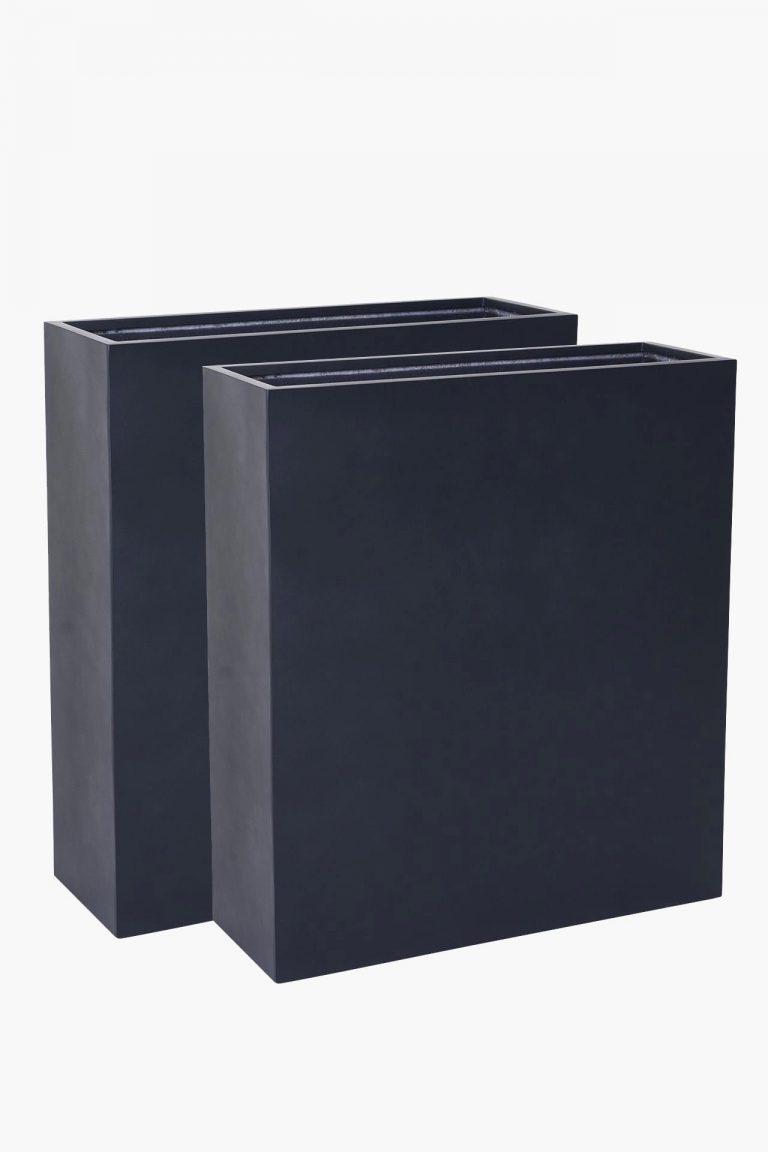 Напольное кашпо 2er-raumteiler-sichtschutz-pflanzkuebel-fiberglas-anthrazit-elemento-88×100-1-min