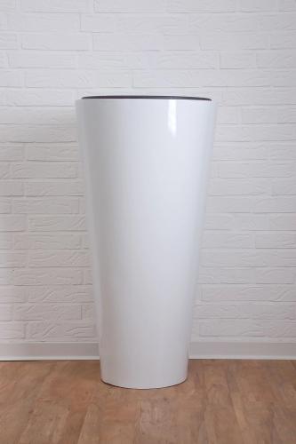 Превью кашпо pflanzkuebel-rondo-classico-fiberglas-weiss-hochglanz-2