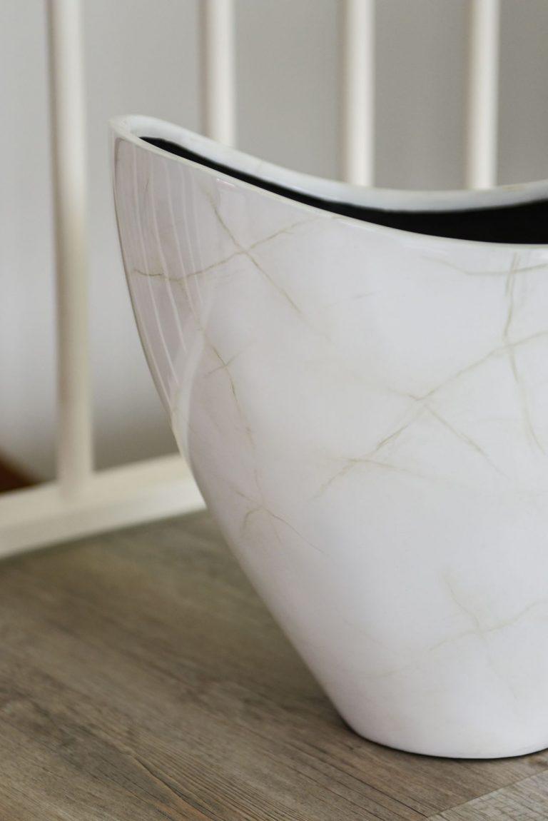 Напольное кашпо dekoschale-pflanzschale-schale-exklusiv-marmor-weiss-35x42x31-vibra-5